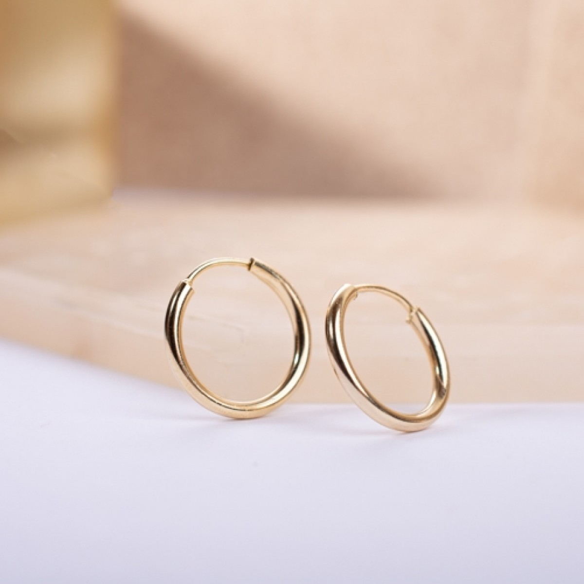 Gold-Plated Silver Hoop Earring 1,5cm