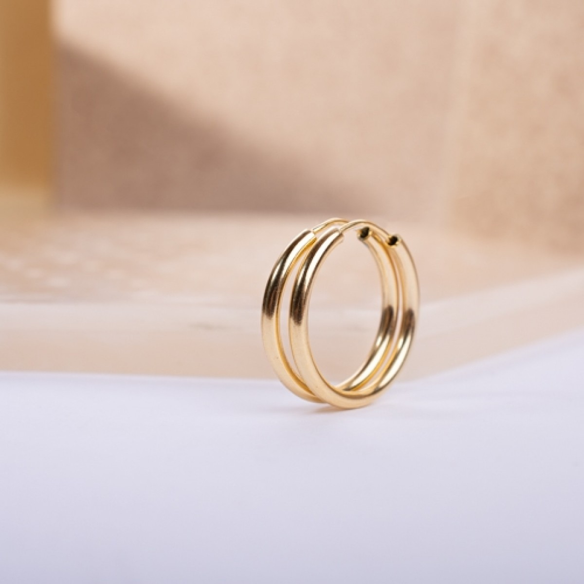 Gold-Plated Silver Hoops 2cm