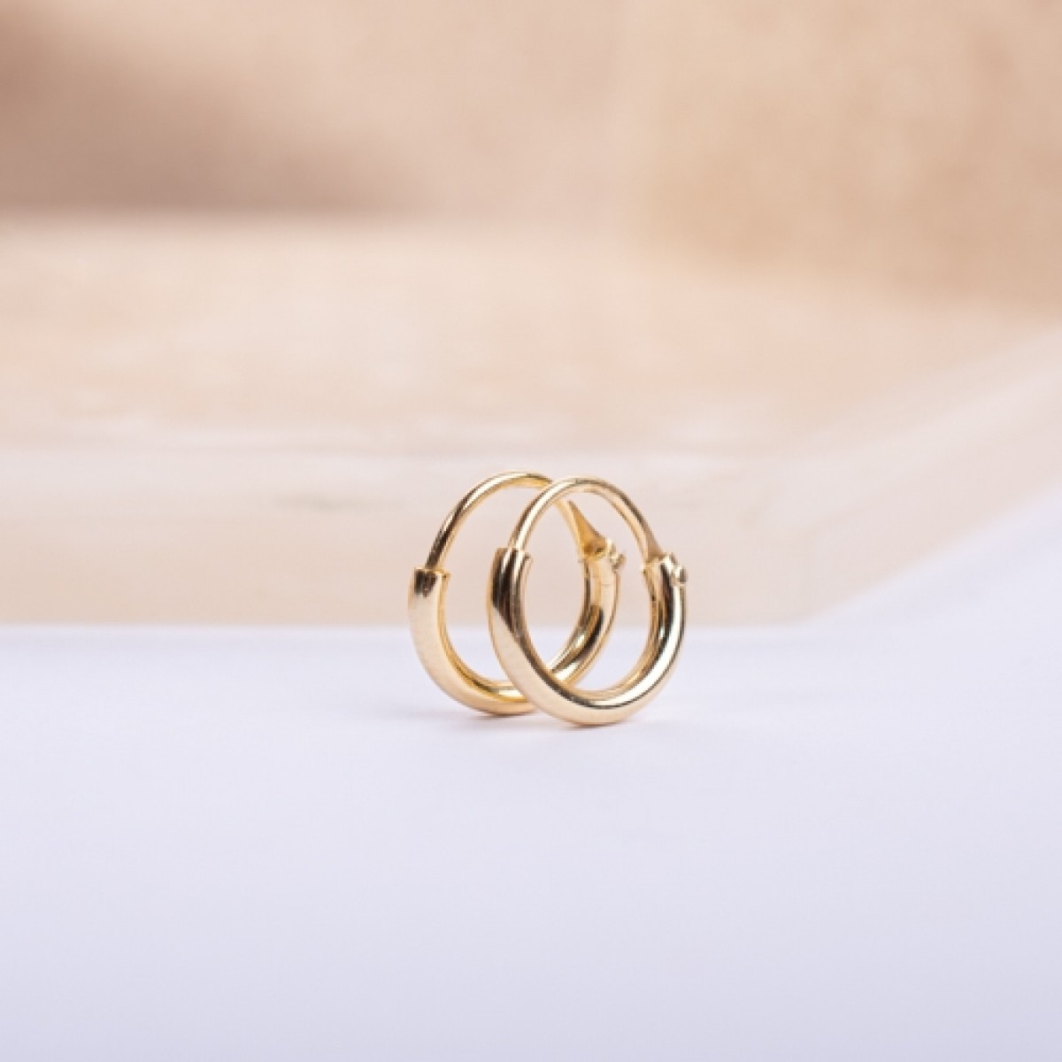 Gold-Plated Silver Hoop Earring 1cm