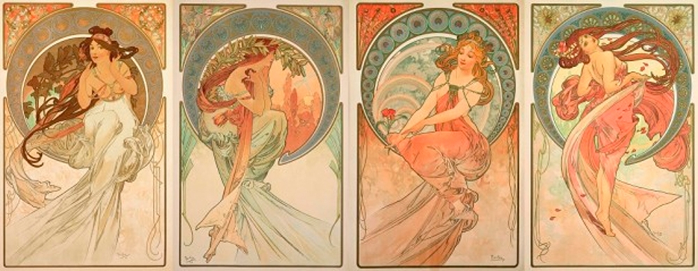 The Art Series By Alphonse Mucha